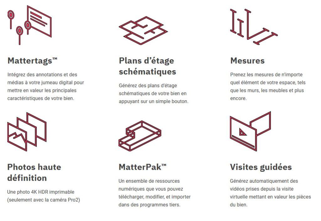 Caractéristiques caméra Matterport proposée par DB Prévention
